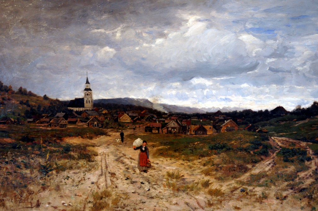 Oil painting by Jacob Oxholm Schive, Røros